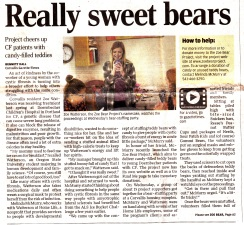 Gazette Times Really Sweet Bears 11-16-2017 page A1 article